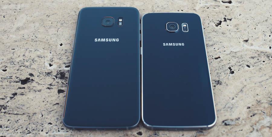 Samsung S7 vs S6 Back